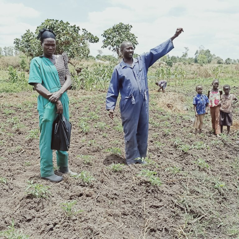 Farmer Yasin who regularly guides interns